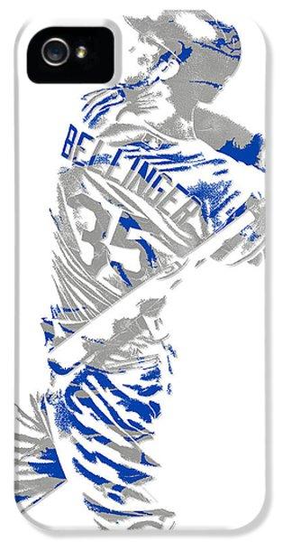 Los Angeles Dodgers iPhone 5s Case - Cody Bellinger Los Angeles Dodgers Pixel Art 2 by Joe Hamilton
