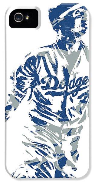 Los Angeles Dodgers iPhone 5s Case - Cody Bellinger Los Angeles Dodgers Pixel Art 20 by Joe Hamilton