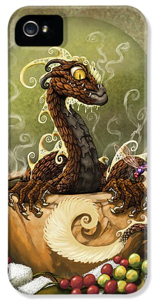 Dragon iPhone 5s Case - Coffee Dragon by Stanley Morrison