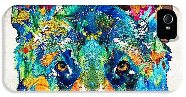 Dog iPhone 5s Case - Colorful German Shepherd Dog Art By Sharon Cummings by Sharon Cummings