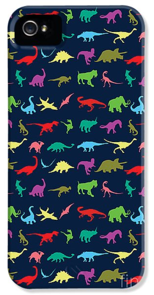Colorful Mini Dinosaur IPhone 5s Case by Naviblue