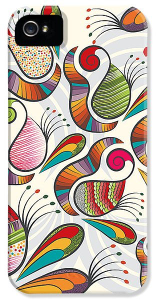 Colorful Paisley Pattern IPhone 5s Case by Famenxt DB