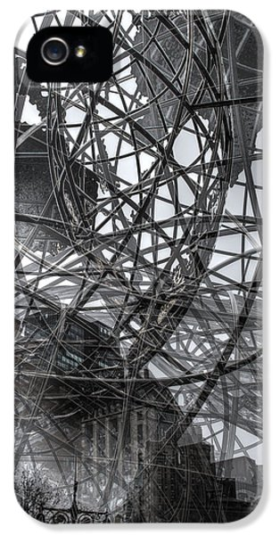 IPhone 5s Case featuring the photograph New York - Columbus Circle Globe -  Collage by Dave Beckerman