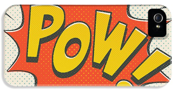 Spider iPhone 5s Case - Comic Pow On Off White by Mitch Frey