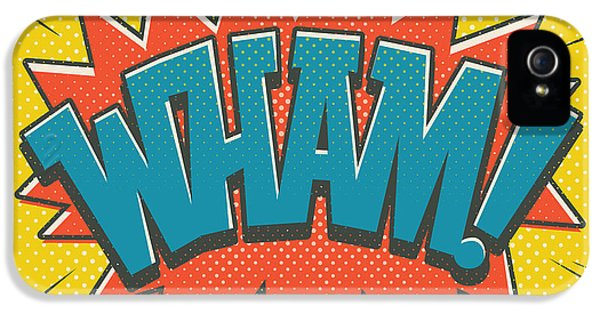 Comic Wham IPhone 5s Case by Mitch Frey