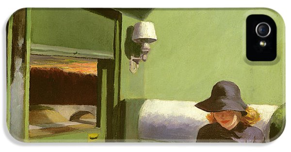 Train iPhone 5s Case - Compartment C by Edward Hopper