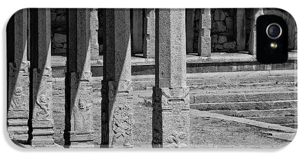 IPhone 5s Case featuring the photograph Composition Of Pillars, Hampi, 2017 by Hitendra SINKAR