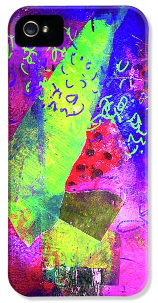 IPhone 5s Case featuring the mixed media Confetti by Nancy Merkle