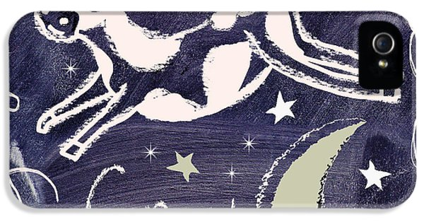 Cow Jumped Over The Moon Chalkboard Art IPhone 5s Case by Mindy Sommers