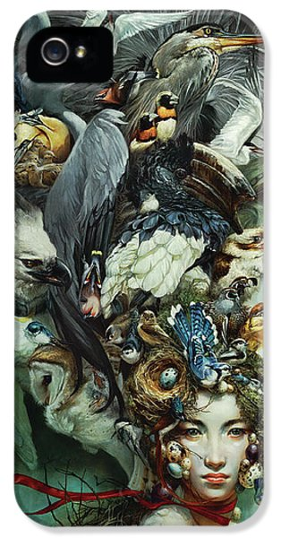 Hornbill iPhone 5s Case - Crimson Ribbon by Heather Theurer