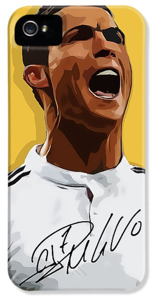 Cristiano Ronaldo Cr7 IPhone 5s Case by Semih Yurdabak
