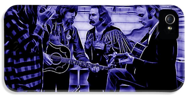 Crosby Stills Nash And Young IPhone 5s Case by Marvin Blaine