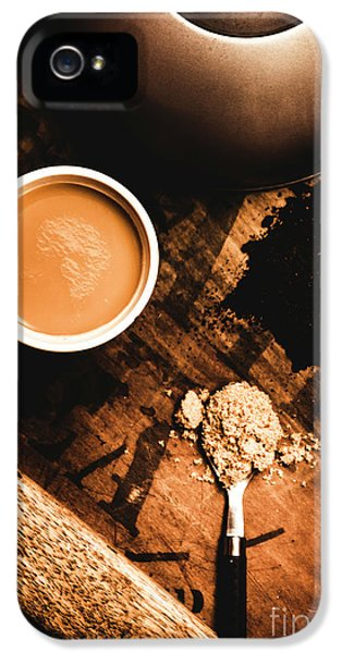 Kettles iPhone 5s Case - Cup Of Tea With Ingredients And Kettle On Wooden Table by Jorgo Photography - Wall Art Gallery