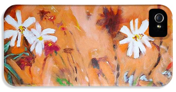Daisies Along The Fence IPhone 5s Case by Winsome Gunning