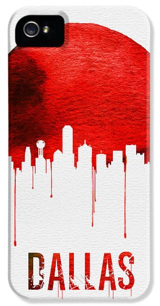 Dallas Skyline Red IPhone 5s Case by Naxart Studio