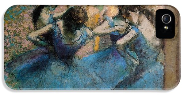 Impressionism iPhone 5s Case - Dancers In Blue by Edgar Degas