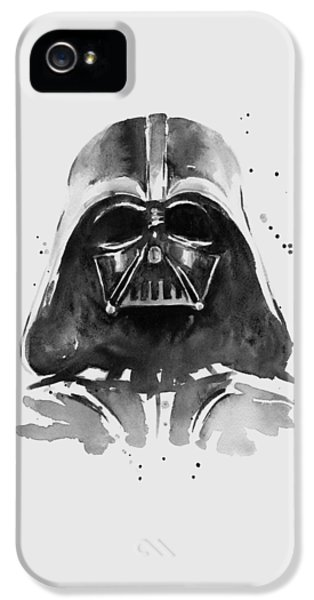 Darth Vader Watercolor IPhone 5s Case by Olga Shvartsur