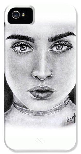 iPhone 5s Case - Lauren Jauregui Drawing By Sofia Furniel  by Jul V