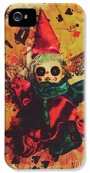 Magician iPhone 5s Case - Demonic Possessed Joker Doll by Jorgo Photography - Wall Art Gallery