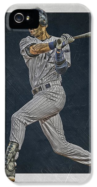 Derek Jeter New York Yankees Art 2 IPhone 5s Case by Joe Hamilton