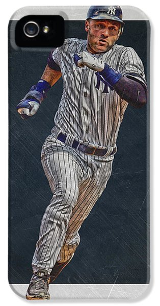 Derek Jeter New York Yankees Art 3 IPhone 5s Case by Joe Hamilton