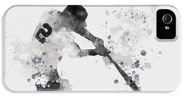 New York Yankees iPhone 5s Case - Derek Jeter by Rebecca Jenkins