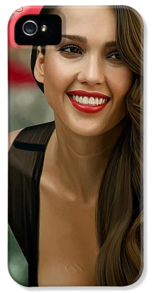 Digital Painting Of Jessica Alba IPhone 5s Case by Frohlich Regian