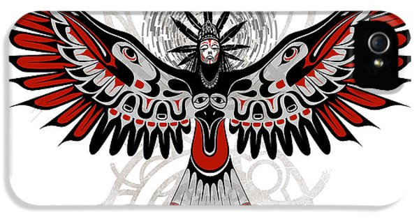 Crow iPhone 5s Case - Divine Crow Woman by Sassan Filsoof