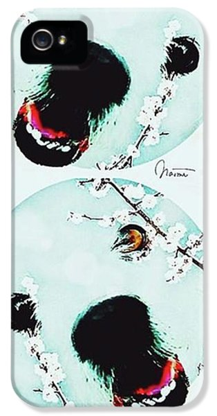 iPhone 5s Case - Dog Blossoms  by Naomi Ibuki