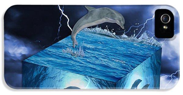 Dolphin iPhone 5s Case - Dolphin Art by Marvin Blaine