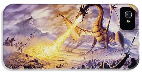 Dragon iPhone 5s Case - Dragon Battle by The Dragon Chronicles - Steve Re