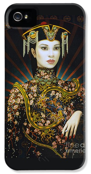 Dragon iPhone 5s Case - Dragon Smoke by Jane Whiting Chrzanoska