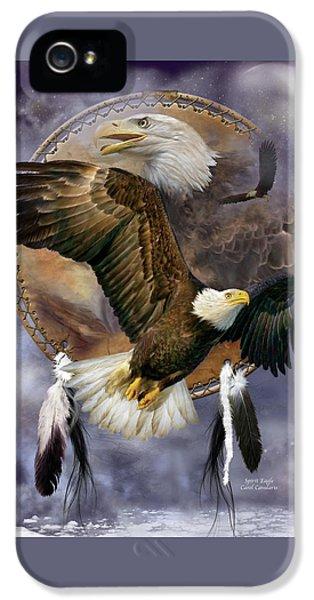 Dream Catcher - Spirit Eagle IPhone 5s Case by Carol Cavalaris
