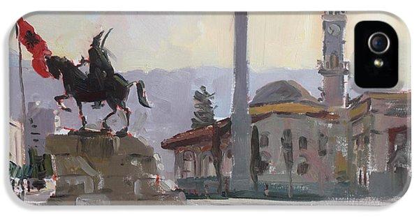 Clock iPhone 5s Case - Early Morning In Tirana by Ylli Haruni
