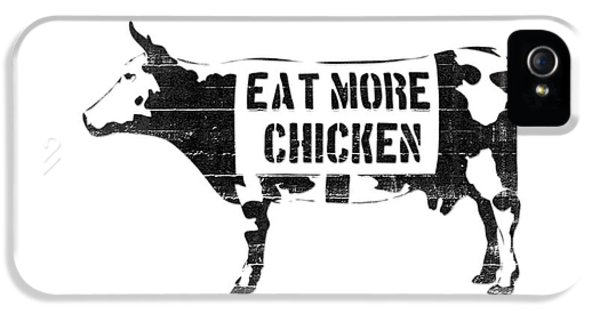Cow iPhone 5s Case - Eat More Chicken by Pixel  Chimp