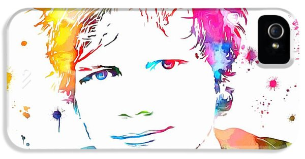 Ed Sheeran Paint Splatter IPhone 5s Case by Dan Sproul