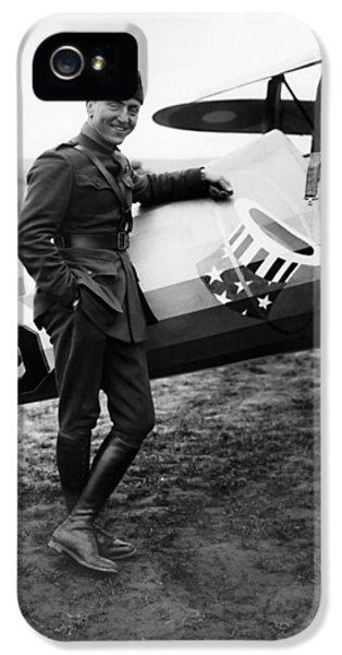 Airplane iPhone 5s Case - Eddie Rickenbacker - Ww1 American Air Ace by War Is Hell Store