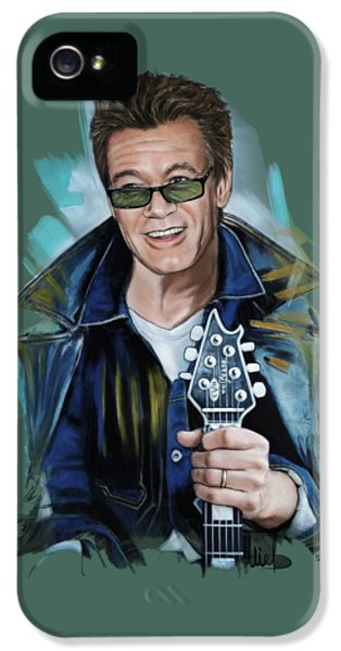 Eddie Van Halen IPhone 5s Case by Melanie D