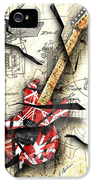 Abstract iPhone 5s Case - Eddie's Guitar by Gary Bodnar
