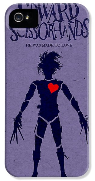 Edward Scissorhands Alternative Poster IPhone 5s Case by Christopher Ables