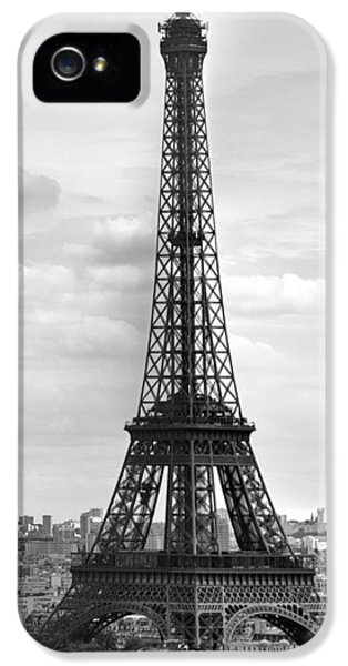 Eiffel Tower Black And White IPhone 5s Case by Melanie Viola
