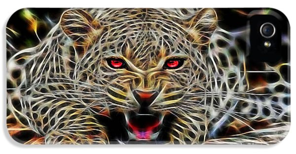 Electric Leopard Wall Art Collection IPhone 5s Case