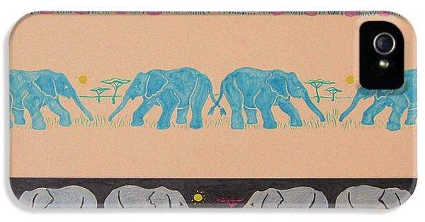 Elephant Pattern IPhone 5s Case by John Keaton