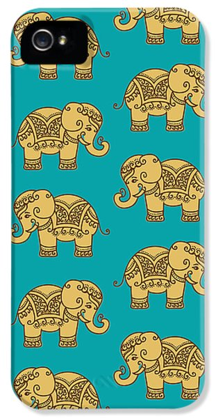 Elephant Pattern IPhone 5s Case by Krishna Kharidehal