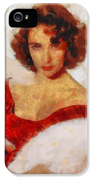 Elizabeth Taylor Actress IPhone 5s Case by Esoterica Art Agency