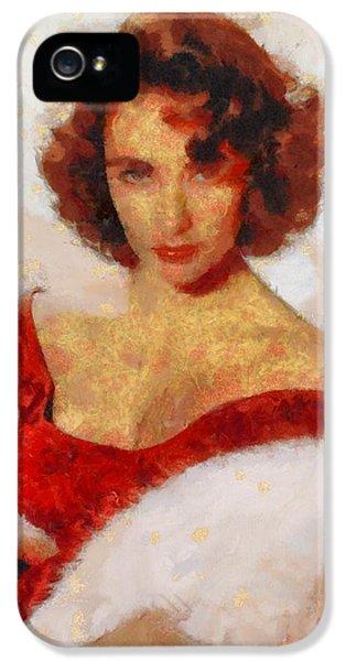 Elizabeth Taylor Actress IPhone 5s Case