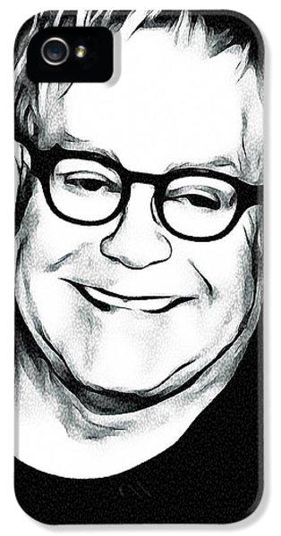 Elton John Black And White IPhone 5s Case by Yury Malkov