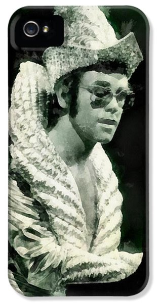 Elton John By John Springfield IPhone 5s Case by John Springfield