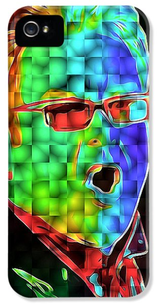 Elton John In Cubes 2 IPhone 5s Case by Yury Malkov