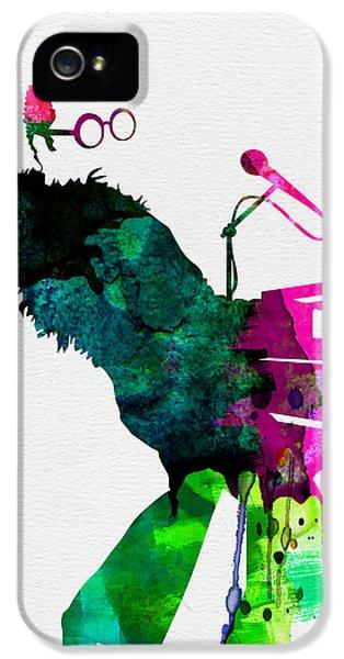 Musicians iPhone 5s Case - Elton Watercolor by Naxart Studio